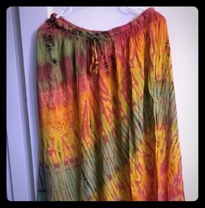 Beautiful jayli tie dyed maxi skirt. Great used